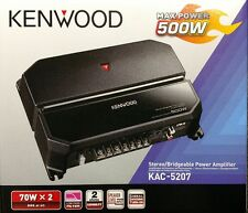 Kenwood KAC-5207 500 Watts 2-Channel Stereo/Bridgeable Car Amplifier