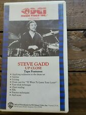 Steve Gadd Up Close Drum Instructional VHS 1984   FREE SHIPPING