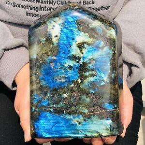 9.19LB Natural Labrador moonstone quartz crystal free form mineral specimen 6