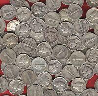 20 coin LOT- US *MERCURY DIMES* 90% Silver survivalist barter coins~ before 1946