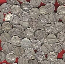Survivalist Money US *MERCURY DIMES* 90% Silver coins before 1946~assorted dates