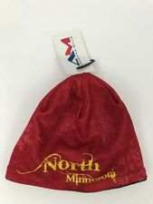 AM American Mills North Minnesota Beanie Snow Flake red  Yellow One Size Acrylic