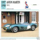 ASTON-MARTIN DBR 2 1957 1958 CAR VOITURE Great Britain CARTE CARD FICHE