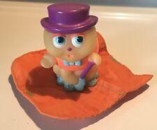 Vtg 1986 Playskool Glo Worm Friend Figurine Bop Bug w/ Cane Sleeping Bag