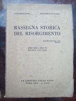 1935 RASSEGNA STORICA DEL RISORGIMENTO. UGO BASSI E GAVAZZI. ISOLA LA MADDALENA