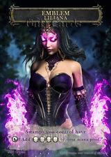 1x Liliana of the Dark Realms Emblem #1 Custom Altered MTG