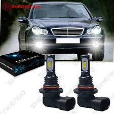 Für Mercedes-Benz C-Klasse W203 W211 9006 Weiß LED Nebelscheinwerfer Lampen 2X