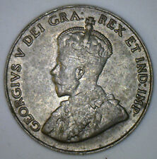 1927 Canadian Imperial Crowned Two Leaf Nickel 5 cent Piece XF1
