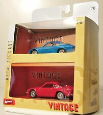LOT de  2 ALPINE RENAULT 1/43 - COLLECTION VINTAGE MONDO MOTORS VOITURE  -