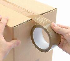 10 ROTOLI DI NASTRO MARRONE.... selotape imballaggio cellotape sellotape imballaggio scatole