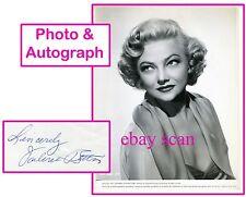 VALERIE BETTIS Vintage Original Photo 1952 AUTOGRAPH CARD SEXY DANCER PORTRAIT