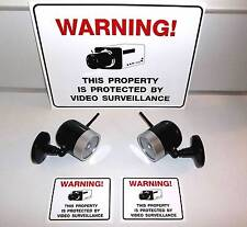 LOT FAKE DUMMY CAM SPY SECURITY SURVEILLANCE CAMERAS+SYSTEM IN USE WARNING SIGNS