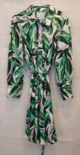 Beauticurve X Lane Bryant NWT Palm Floral Satin Shirt Dress Size 20
