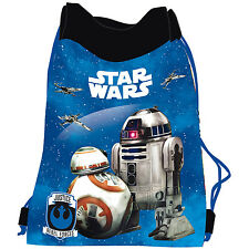 Star Wars Episode 7 Shoe Bag Drawstring Swim Gym PE Sports BB-8 Droid R2D2 BB8
