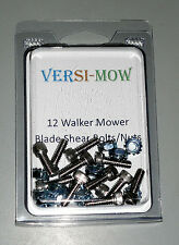 12 Pack of Shear Bolts/Nuts For Walker Mowers - Replaces Walker P/N F002 & F202