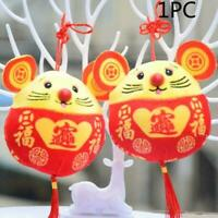 2020 New Year plush Rat Year Mascot Toy Chinese New Decoration Year Gift Pa P8D7