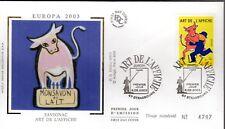 3556+ FDC  ENVELOPPE 1er JOUR  SUR  SOIE  EUROPA  ART  DE  L'  AFFICHE