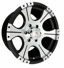 16x8 Rebel Racing Ace 5x114.3 ET0 Black w/Machined Face Rims (Set of 4)