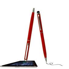 Uso dual pantalla táctil capacitiva Stylus/Rojo Pluma Para Huawei Teléfono HTC Blackberry