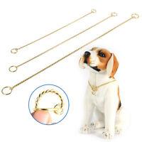 Pet Dog Puppy Choke Collar Decor Snake Chain Metal Training Collar Gold Black HG