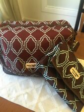 Diaper Bag set - timi & leslie Brown And Turquoise Preowned Quality gift