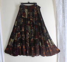 BOP We Be Bop -Sz 3XP 3 X Petite Full Flowing Funky Nothing Matches Rayon Skirt