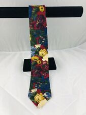 Liberty Of London Italian Silk Floral Tie Multi RN30187 Mint 3-3/4""