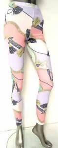 BRAND NEW LADIES/GIRLS PASTEL PRINT DESIGN LEGGINGS UK8 - UK14