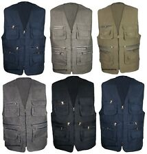 Mens Summer Waistcoat Lightweight Gilet Jacket Fishing Hunting Safari Coat TOP