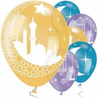EID Mubarak Ramadan Kareem Party Latex  Balloons Party Events  x 6