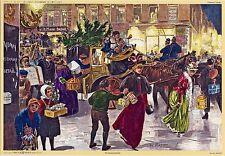 Weihnachtseinkäufe in Alt-Berlin Adventskalender n. Holzstich von 1894 Kunstvlg.