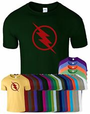 Reverse Flash Mens Red Logo TShirt The Star Labs Justice Lightning Funny Top Tee
