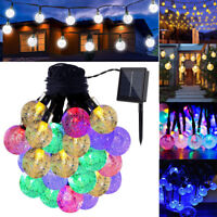 Solar Power LED Ball Fairy String Light Xmas Tree Garden Patio Home Party Decor