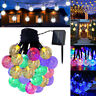 Solar Power LED Ball Fairy String Light Xmas Tree Garden Patio Home Party Decor
