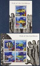 St. Vincent Bequia 2013 Fische Fishes Poissons Pesci 878-81 Block 96 MNH