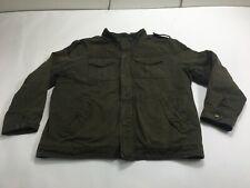 Levi's Men's Sherpa Fleece Lined Parka Jacket Green Size 2XL