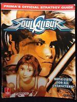 Soul Calibur 1 Prima's Official Video Game Strategy Guide Prima Namco 1998 1999