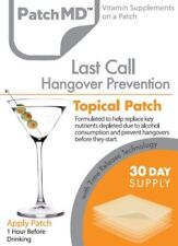 Last Call Hangover Topical Patch Vitamin Supplement Patch-MD 30-patches EXP:2022