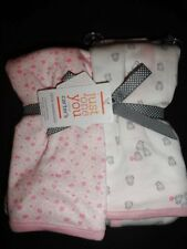 NWT Carter's Just One You Owls Floral Girl's Swaddle Blankets
