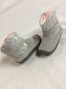 Stride Rite Shoes Baby Toddlers Girls Boots, Gray Metallic, Size 2