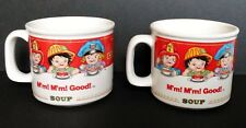 TWO 1993 Westwood Campbell Soup Co. M'm M'm Good! Kids Mugs Bowls With Handles