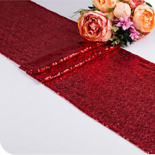 """12""""x72"""" Sparkle Sequin Table Runner Glitter Wedding Catering Decorations Party"""