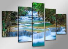 Images sur toileV 200x100 cm cataracte  Nr 6308 abstrait pret a accrocher