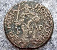 GERMAN STATES - BISHOPRIC OF MUNSTER 1661 4 PFENNIG, COPPER