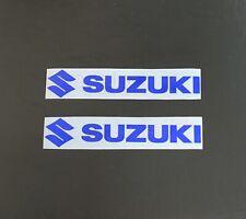 2x *Blue* Suzuki Decals Suzuki Stickers (Pair) * Many Size Options *
