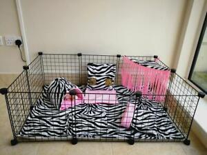 C&C fleece cage liner set, guinea pig, small animals, Zebra.