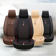 New Universal PU Leather Look Car Seat Covers Heavy Duty Front Back Seat Cushion