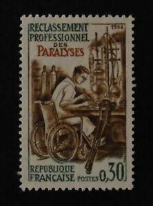 Timbre poste. France. n°1405. Reclassement professionnel.