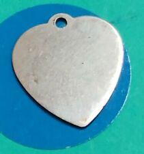 Bracelet Z55 Unengroved Heart Sterling Silver Vintage Charm