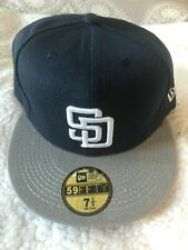 San Diego Padres Fitted Hat Navy Blue / Gray Alternate